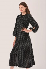 CLOSET Black Gathered Neck A-Line Dress