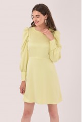 CLOSET Yellow Puff Sleeve Mini Dress