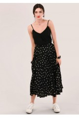 CLOSET Black Pleated Skirt