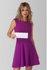 CLOSET Purple Ponte A Line Dress