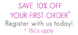 10% OFF First Purchace